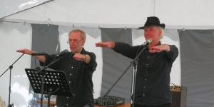 Achim Amme (links), Ulrich Kodjo Wendt (recht)